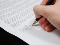 ondertekenprocedure